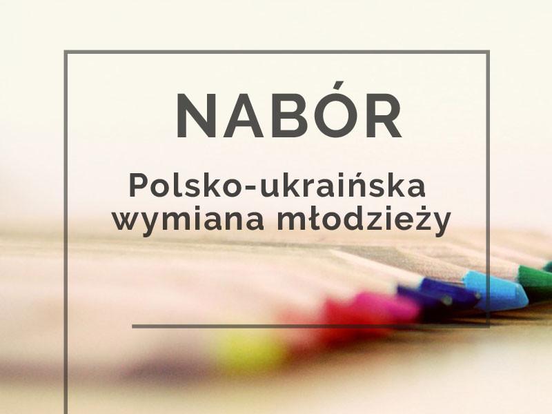 Nabór do programu Polsko – Ukraińska Wymiana Młodzieży 2019!