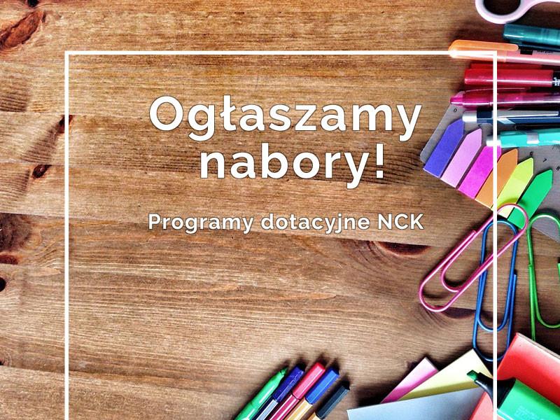 Ogłaszamy nabory do programów Narodowego Centrum Kultury
